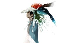 anime-boy-cool-feather-sadness-art-watercolor-wallpaper