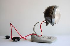 Metal Motorcycle Headlight via Etsy.