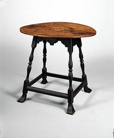 Table, New England, maple, oak, circa, 1700-1730.