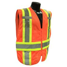 Radians Hi Vis Orange Expandable Two Tone Vest Class 2 SV23-2ZOM | Hi Vis Safety Direct will beat any other price , we are #1 in Hi Visibility Items .