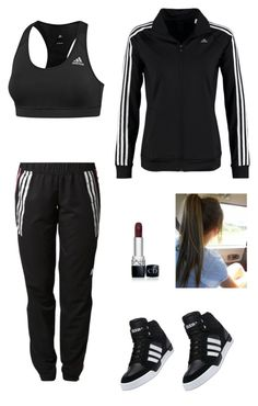 """Adidas "" by francyrizzo ❤ liked on Polyvore featuring adidas and Christian Dior"