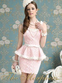 Pink Lace Flora Sleeveless Dress..<3