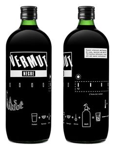 Vermut Negre by Bendita Gloria, via Behance Love this bottle and graphics PD