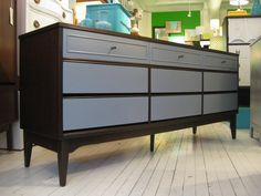 I NEED this refinished vintage dresser from White Attic…it would look fantastic w/my new nightstand. #bedroom #furniture #refinish