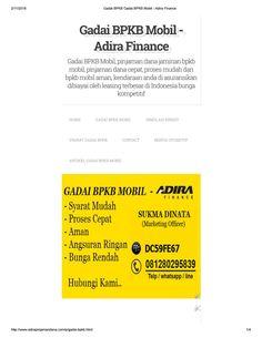 Gadai bpkb gadai bpkb mobil adira finance