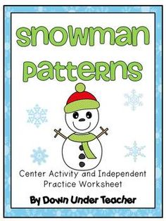 Freebie: Winter Snowman Patterns