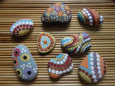 PAINTED BEACH STONES / Pebble Art / Dot Painted by NatureParadise, $69.99