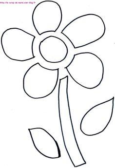 1maman2filles coloriage fleur 4