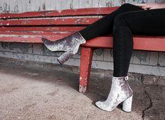 Double Velvet - Public Desire Boots | Copper Pink