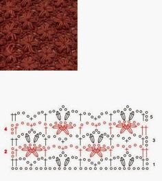 Star Stitch - Free Crochet Diagram - (ivelisefeitoamao)