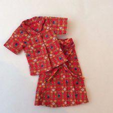 SINDY 1982 SUMMER SUIT 44044 - SKIRT + TOP - vintage doll clothes P&P discounts