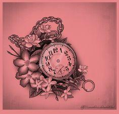 Pocket watch and flowers by ~XxMortanixX on deviantART