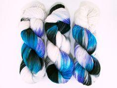 Morpho / Hand Dyed Yarn / Archduchess Base / Fingering Weight / 75/25 Superwash Merino Nylon Blend Sock Yarn by AstraeaMeris on Etsy