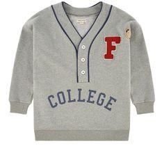 Fish & Kids - Loose fit trompe-l'œil sweatshirt - 228241 Boys Fall Fashion, Autumn Fashion, Cute Outfits For Kids, Cute Kids, Pullover, Children, Sweatshirts, Loose Fit, Fitness