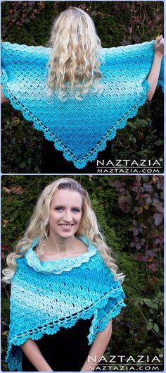 Crochet Splendid Shawl Free Pattern - Crochet Women Shawl Sweater Outwear Free Patterns