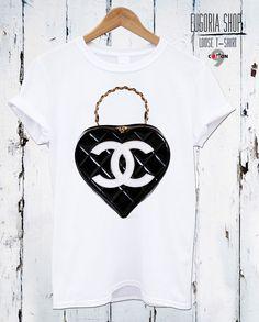 Loose Designer Fashion Bag T-shirt, Bags Channel T-shirt by EUGORIA shop