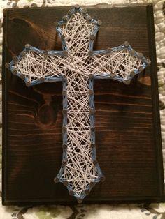 Cross string art, religious - Order from KiwiStrings on Etsy ( www.KiwiStrings.etsy.com )