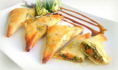 Samosas de verduras (empanadillas crujientes y ligeras) | CocinaconMarta.com