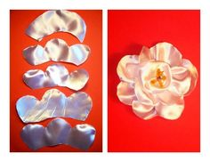Bom, se você não manda bem no papel, aqui segue algumas idéias de como fazer pequenas rosas em tecido. Tem foto (grande) com o passo a passo de cada flor, basta separar tecido, agulha e linha e ten…