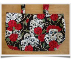Roses and Skulls changing bag by Tabitha's Treasure Chest.