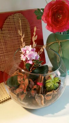 little garden with orchid..