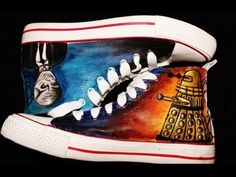 D.I.Y Doctor Who Shoes | Doctor Who Converse. Thought these were cool. I'm eventually gonna make them