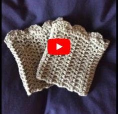 Free pattern, video tutorial and size chart for crochet boot cuffs. Step by step. Free pattern, video tutorial and size chart for crochet boot cuffs. Step by step instructions take Knitted Boot Cuffs, Crochet Boots, Crochet Gloves, Crochet Headbands, Knit Headband, Knit Hats, Hat Crochet, Baby Headbands, Crochet Sock Pattern Free