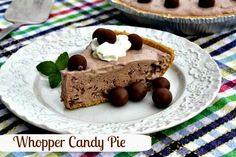 Mommy's Kitchen - Home Cooking & Family Friendly Recipes: Whopper Candy Ice Box Pie ~ Revisited