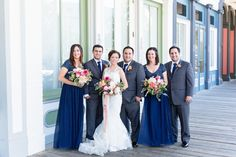 Bridal Party Family Brothers Sisters Navy Blue Gray   Firehouse-Restaurant-Wedding-Old-Town-Sacramento-Wedding-Photographer