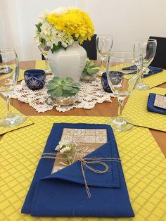 Centros de mesa criados a partir dos objetos de família, Save the date exclusivo, guardanapos e jogos americanos 704 Home.
