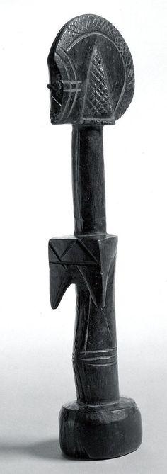 Figure: Female (Yariga Biiga) Date: 20th century Geography: Burkina Faso, Ouahigouya Culture: Mossi peoples Medium: Wood, metal Dimensions: Height 11-1/4 in.