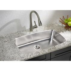 large single stainless sink  faucet and sink