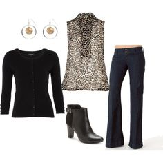 """""""Animal Print Top"""" by emily1967 on Polyvore"""