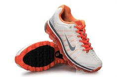 big sale 3d462 4855d Wit Oranje Nike Air Max 2009 Classic Schoenen Dames 68163