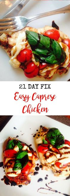 21 Day Fix Easy Caprese Chicken   Confessions of a Fit Foodie