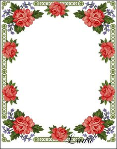 f Cross Stitch Borders, Cross Stitch Rose, Cross Stitch Flowers, Cross Stitch Embroidery, Cross Stitch Patterns, Magic Hands, Button Cards, Romantic Roses, Floral Border