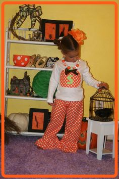 Halloween Pumpkin Outfit for Girl