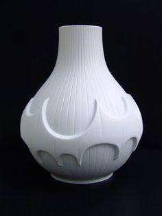60er Jahre Biskuit Porzellan Vase- weiß - Scherzer - Design Werner Uhl  | eBay