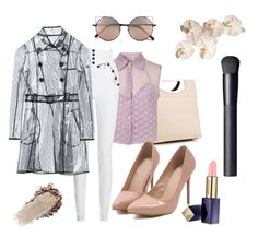 """""""Pastel & Nude colors """" by jenifferdhoran ❤ liked on Polyvore featuring Christian Louboutin, Goldie, Isabel Marant, RED Valentino, Estée Lauder, NARS Cosmetics and Linda Farrow"""
