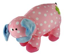 Pig Bean Cushion - perfect for travelling! Fabric Animals, Recycled Fabric, Travelling, Dinosaur Stuffed Animal, Recycling, Cushions, Classic, Character, Throw Pillows