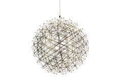Designed by a mathematics professor, the Raimond is a sphere created from a series of triangular shapes. The intricate inner and outer frames are joined at the LED terminals. The electrical current is transported through the stainless spring steel frame.