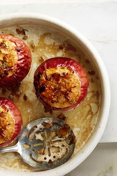 Savory Baked Apples with Onions & Gruyère