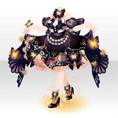 カレイドスコープ・バタフライ|@games -アットゲームズ- Dress Drawing, Drawing Clothes, Anime Outfits, Cool Outfits, Chibi, Anime Dress, Cocoppa Play, Anime Hair, Star Girl