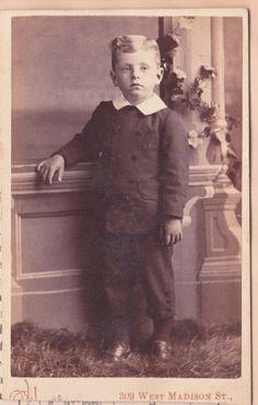 Civil War era Victorian Boy Carte de Visite by NorthCountryVintage, $3.50