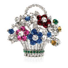 Buckingham Palace Prince of Wales Flower Brooch