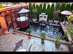 koi fish garden ponds design ideas - YouTube