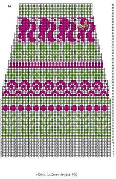 "Вязание. Жаккард - ""Зимняя радуга"" Knitting Stitches, Knitting Socks, Knitting Patterns, Crochet Patterns, Fair Isle Pattern, Mittens, Knit Crochet, Diy And Crafts, Cross Stitch"