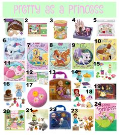 The Well Styled Child Princess themed Easter basket ideas   #princess #easter #basket #filler #ideas #kids