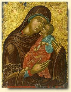 Detailed view: Virgin Eleousa- exhibited at the Temple Gallery, specialists in Russian icons Russian Icons, Byzantine Art, Faith Art, Medieval Art, Art, Christian Art, Art Icon, Conservation Art, Sacred Art