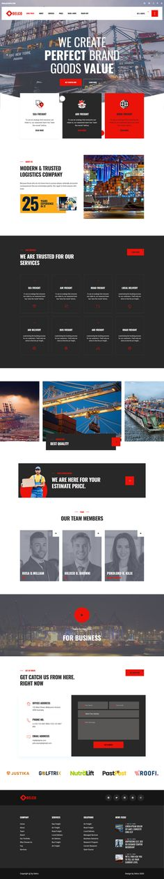 Delco Logistics & Cargo is a creative with trendy design WordPress Theme that suitable all logistic services, cargo services, courier shipping companies, delivery companies, moving trucks and companies, sea & air shipping couriers and goods transportation related websites. Website Design Layout, Layout Design, Web Design, Moving Trucks, Cargo Services, Delivery Companies, Shipping Company, Wordpress Theme, Transportation